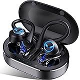 Auriculares Inalambricos Deportivos, Auriculares Bluetooth 5.1 con Micrófono, IP7 Impermeable, Reproducción de 45 Horas, Calidad de Sonido HD, Cascos Inhalabricos para Trabajos, Gimnasio, Correr