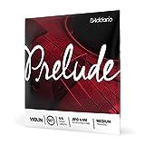 D'Addario Juego de cuerdas para violín Prelude J810 4/4M, escala 4/4, tensión media