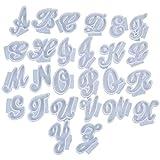 Juego de 26 moldes de resina con letras inglesas de la A a la Z con forma de alfabeto de silicona, moldes de resina epoxi, moldes para manualidades