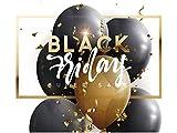 Vinilo Black Friday Escaparates Rebajas Black Friday blanco y dorado | 100 cm de largo x 90 cm de alto | Vinilo Adhesivo | Decora tu escaparate | Pegatinas Adhesivas Escaparate | Vinilos negocios