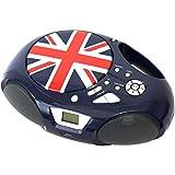 Radio CD portátil con Bluetooth BSL-32UJ | Reproductor CD/MP3 | Puerto USB mp3 | Toma Auxiliar de 3.5mm | Radio FM.