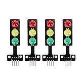 Jolicobo 5 MM 5 V Mini Semáforo Rojo Amarillo Verde LED Módulo de Pantalla Creativo DIY para 4 unids