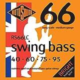 Rotosound RS66LC - Juego de cuerdas para bajo eléctrico de acero inoxidable, 40 60 75 95