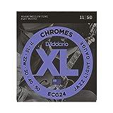 D'Addario ECG24 - Juego de cuerdas para guitarra eléctrica de cromo, 011' - 050'