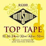 Rotosound RS200 Jazz Monel - Juego de cuerdas para guitarra, entorchado plano, 12-52