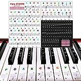 Pegatinas para Pianos o Teclados, Pegatina Notas Etiquetas de Teclas del Piano, Pegatinas para Notas Musicales para Teclas Blancas y Negras, Piano Adhesivo para 49/61/54/88 Clave Teclados