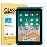 apiker [3 Packs] Protector Pantalla Tablet Compatible con iPad Pro 9.7 Pulgadas, iPad 9.7 Pulgadas 2017/2018, iPad Air, iPad Air 2, iPad 6ª/5ª Generación, Cristal Templado 9H Dureza, Alta Definición