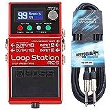 Boss RC-5 Looper - Pedal de efectos + cable keepdrum para guitarra (3 m)