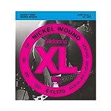d'Addario EXL170 - Juego de cuerdas para bajo eléctrico de níquel, Plateado, 045' - 100
