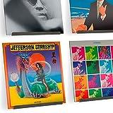 Pantalla de Pared para Discos de Vinilo LP de Alta fidelidad Hudson - muestre su Escucha Diaria con Estilo (Grey, 4)