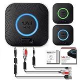 Receptor Bluetooth, Adaptador de Audio Inalámbrico Hi-Fi, 1Mii Adaptador Bluetooth 4.2 con 3D Surround aptX baja latencia para sonido en Streaming. Chip avanzado CRS Bluetooth 4.2 de última generación