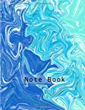 Blue Water color, oil paint, abstract design, marble texture Ruled Notebook journal(8.5 inches x 11 inches) for school, college students. Best gift to kids, boys, girls for Christmas, black friday.