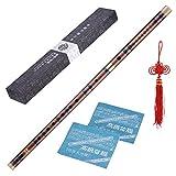 ammoon Flauta de Bambú Enchufable Amargo Dizi Tradicional Hecho a Mano Instrumento Musical Chino de Viento de Madera Clave de C Nivel de Estudio Profesional Actuación