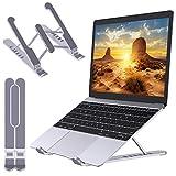 """Babacom Soporte Portatil Mesa, Plegable Ventilado Soporte Ordenador Portátil, 6 Ángulos Ajustable Elevador Portatil Laptop Stand Compatible con MacBook Lenovo HP PC 10-15.6"""", ABS+Silicona"""