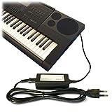 ABC Products - Adaptador de recambio para sintetizador, teclado, piano Casio, CC 12V (AD-A12150LW, AD-A12150, Privia Pro)