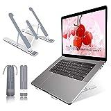 Soporte Portátil Mesa 6 Ángulos Ajustables, Plástico ABS+silicona+aleación de aluminio, Soporte Ordenador Ventilado Plegable, Laptop Stand, Ligero Soporte Mesa para Macbook DELL XPS, HP, PC 10-15.6