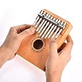 FEE-ZC Music Toys 10-Tone Thumb Piano, Pine Kalimba Thumb Piano Principiantes para niños Herramientas de Aprendizaje Instrumento de música Tradicional Africana