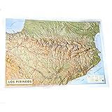 Mapa en relieve Pirineos