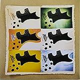 Tarjeta de felicitación hecha a mano con montaje de imágenes de un bajo eléctrico Gibson RD, efecto retro