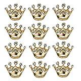 BESTOYARD 12 unidades de corona broche de moda diamante fiesta nupcial corona corona corona corsé para boda suministros para San Valentín (dorado)